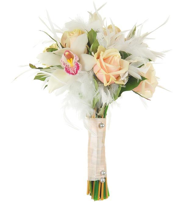 Букет невесты Лебединая верность – фото № 1