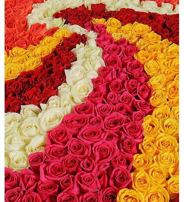 Композиция из 555 роз Магия любви – фото № 5
