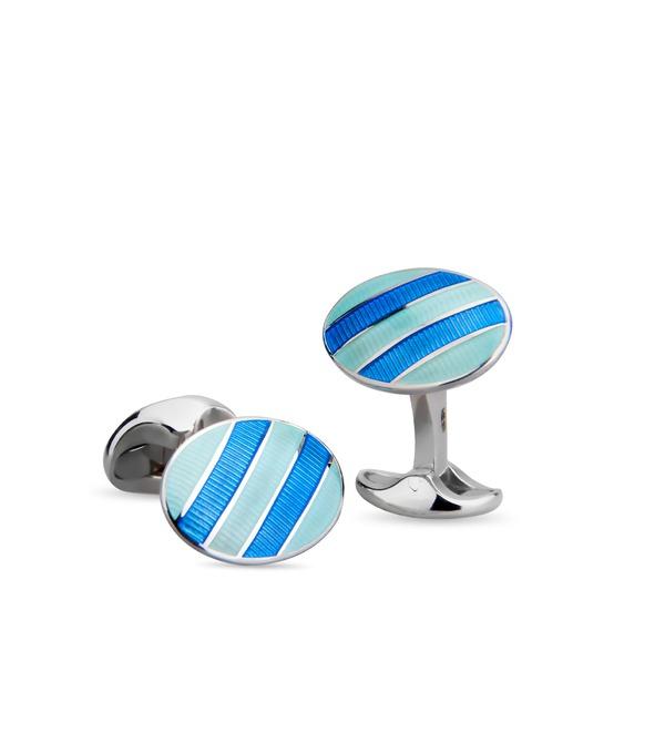 Запонки Tiffany Oval Cuff Links с эмалью – фото № 1