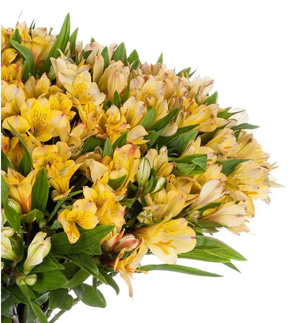 Bouquet Gold (25, 51 or 101 alstroemeria) – photo #5