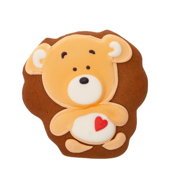 Имбирный пряник Мишка с сердцем – фото № 1