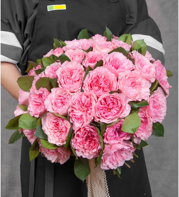 Bouquet of pion-shaped roses Mayras Rose (15, 25 or 51) – photo #1