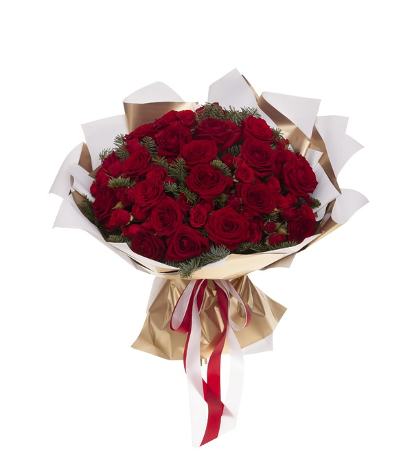 Букет-дуэт роз Мелодия сердца (15,25,35,51,75 или 101) – фото № 5