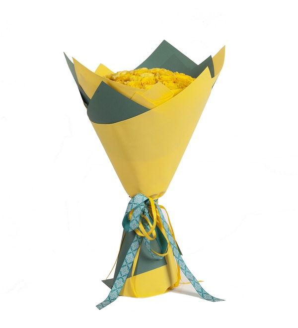 Bouquet-solo Yellow roses (25.51.75 or 101) – photo #4