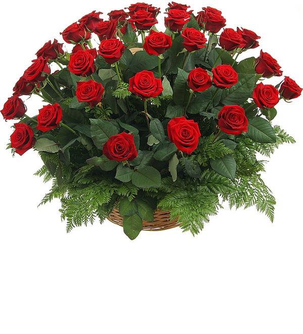 Композиция из роз Красавице – фото № 3
