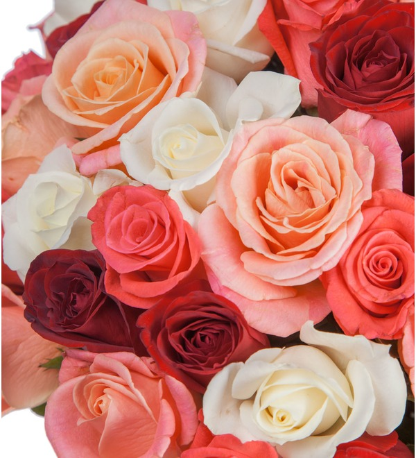 Букет Персиковое лето (25, 51, 101 роза) – фото № 4