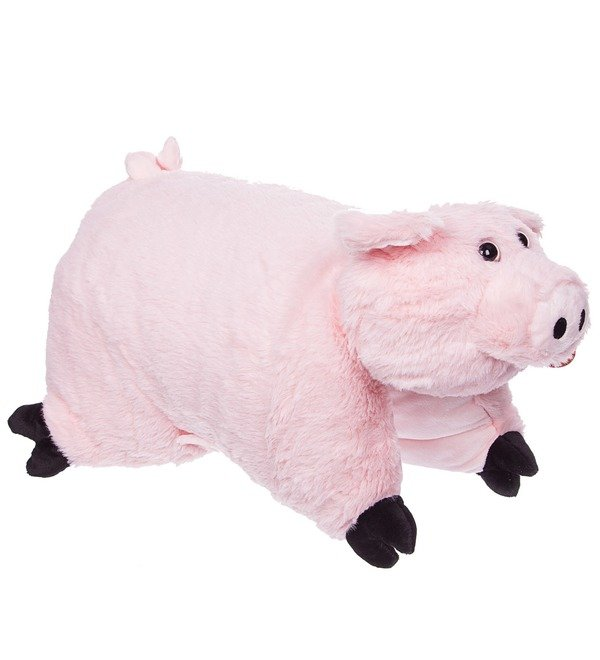Мягкая игрушка-подушка Розовая Ховронья – фото № 2