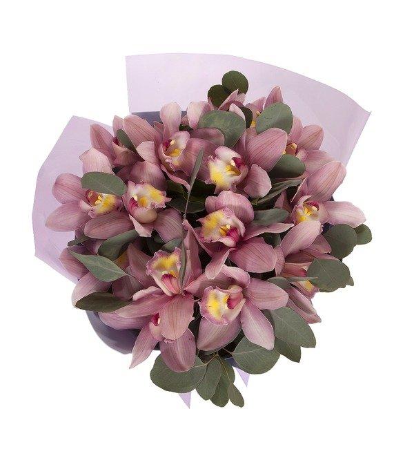 Букет-соло Розовые орхидеи (15,25,35,51,75 или 101) – фото № 3