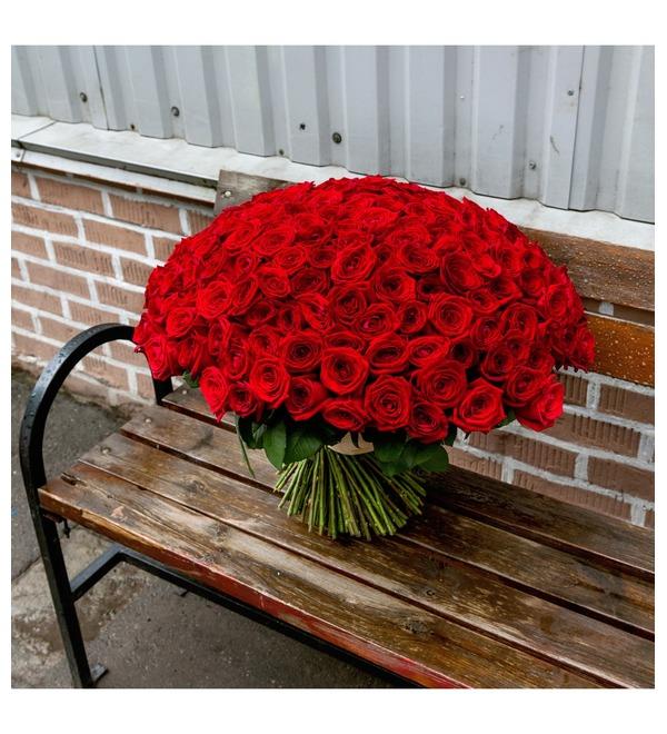Букет из 201 красной розы Ты - мой мир! – фото № 2