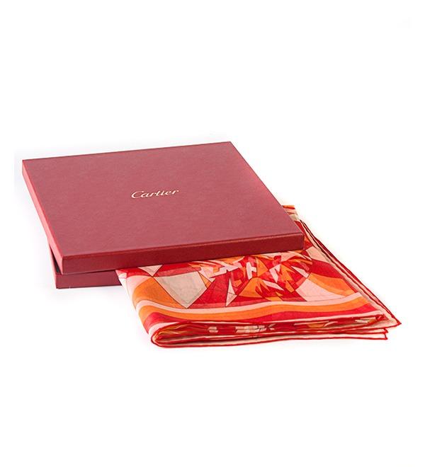 Шелковый платок Cartier (Франция, 80х80 см) – фото № 3