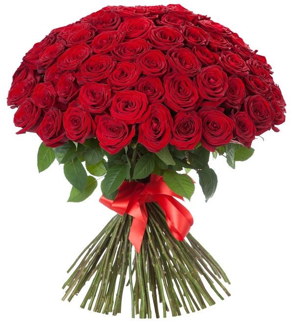 Bouquet of 101 Roses Royal gift – photo #1