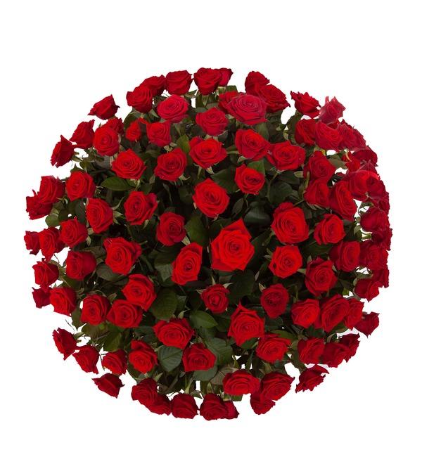 Композиция Пурпурный сонет (51, 101 или 151 роза) – фото № 3