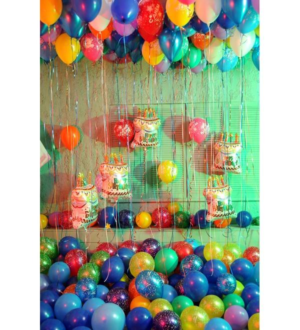 Оформление шарами С днем рождения! – фото № 5