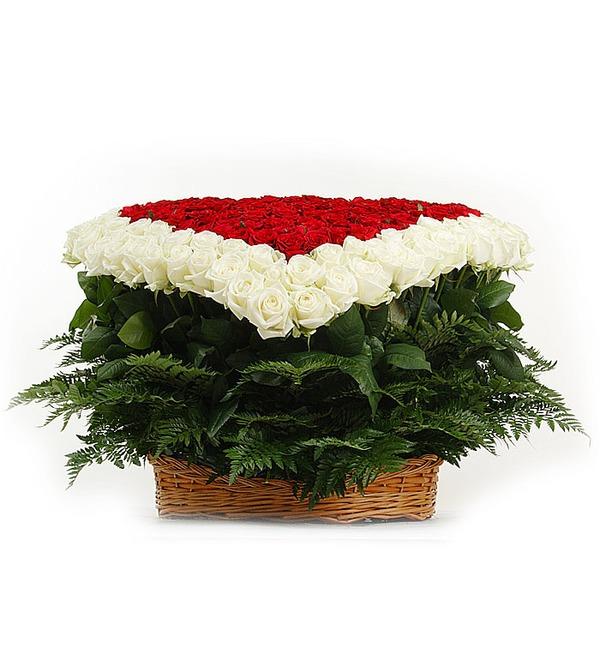 Композиция Счастливая любовь (101, 301 или 501 роза) – фото № 3