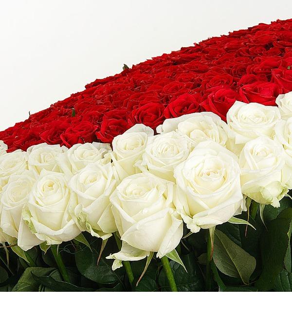 Композиция Счастливая любовь (101, 301 или 501 роза) – фото № 2