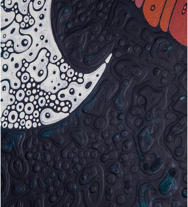 Авторская картина Дама с рыбами (75 Х 110 см) – фото № 2