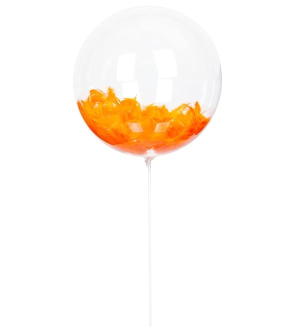 Эксклюзивный воздушный шар с перьями – фото № 1