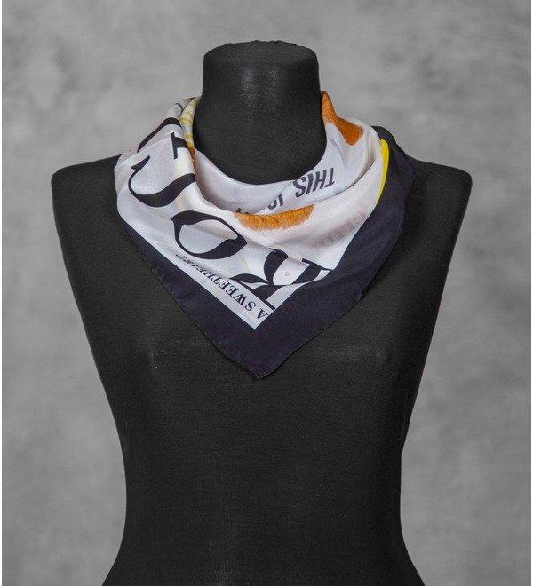 Шелковый платок MOSCHINO (Италия, 50х50 см) – фото № 3