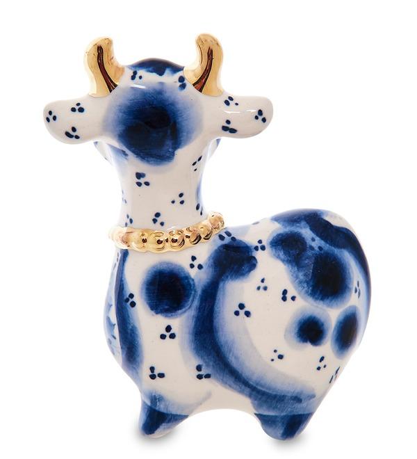 Статуэтка Корова с колокольчиком (Гжельский фарфор) – фото № 2