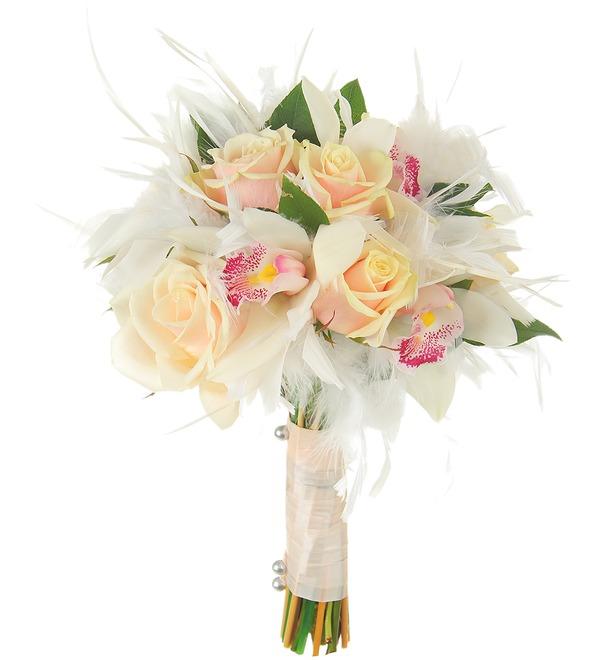 Букет невесты Лебединая верность – фото № 2