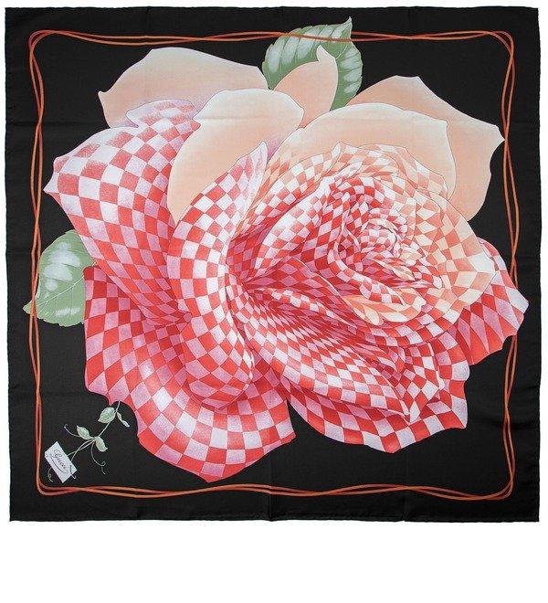 Шелковый платок GUCCI Королевская Роза (Италия, 90х90 см) – фото № 1