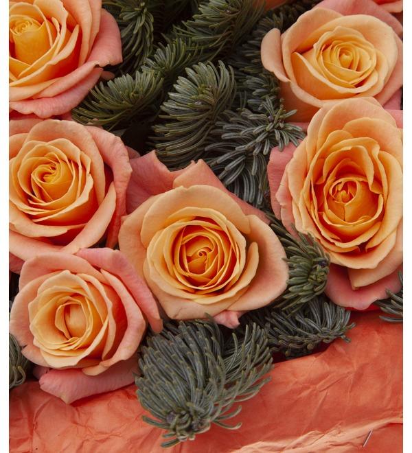 Букет-соло роз Мисс Пигги (15,25,35,51,75 или 101) – фото № 3