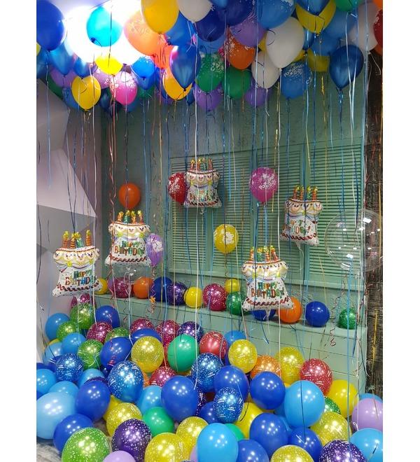 Оформление шарами С днем рождения! – фото № 1