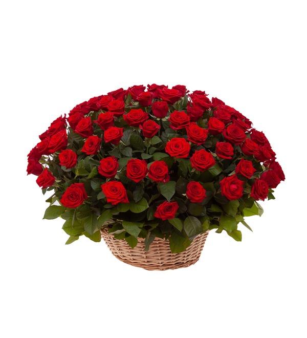Композиция Пурпурный сонет (51, 101 или 151 роза) – фото № 5