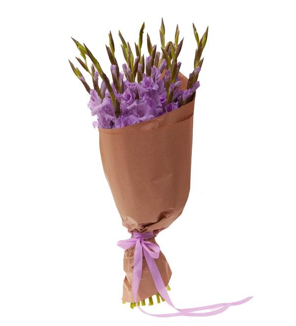 Bouquet-solo of purple gladioli (5,7,9,15,25 or 35) – photo #4