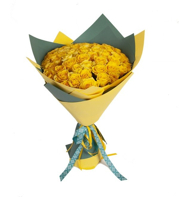 Bouquet-solo Yellow roses (25.51.75 or 101) – photo #5