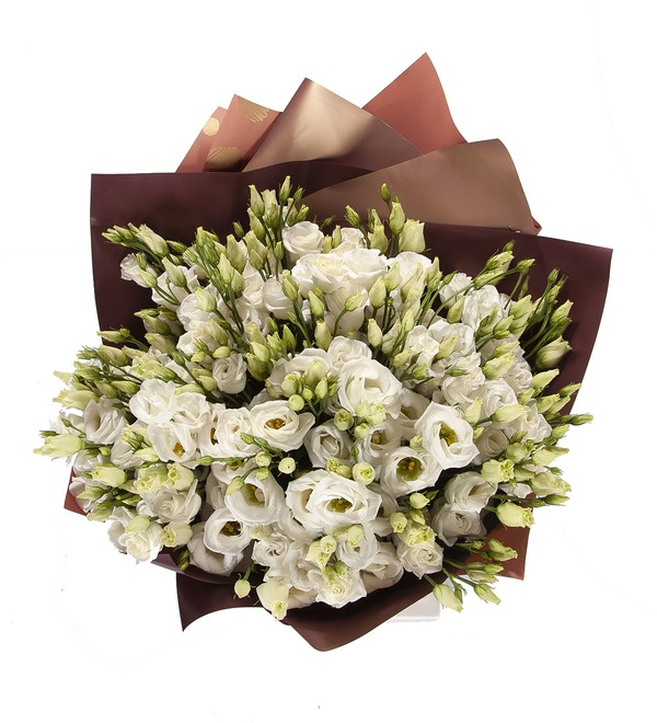Bouquet-solo White eustoma (15,25,51 or 101) – photo #3
