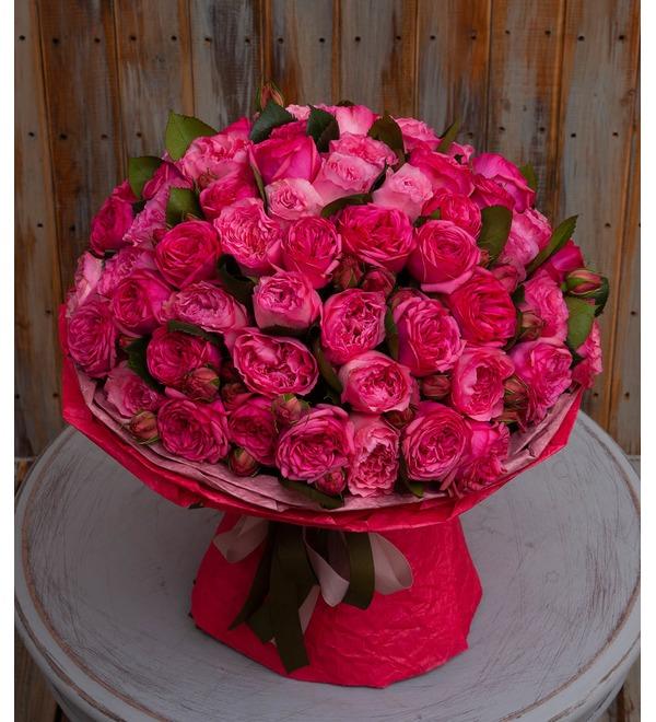Букет-дуэт пионовидных роз Высокая нота (15,25,35,51,75 или 101) – фото № 1