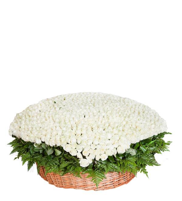 Композиция из 1001 белой розы Сердце Ангела AR691 SAN – фото № 2