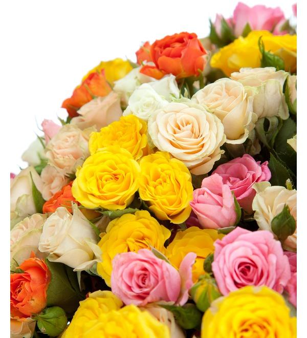 Букет из кустовой розы Огненный – фото № 4