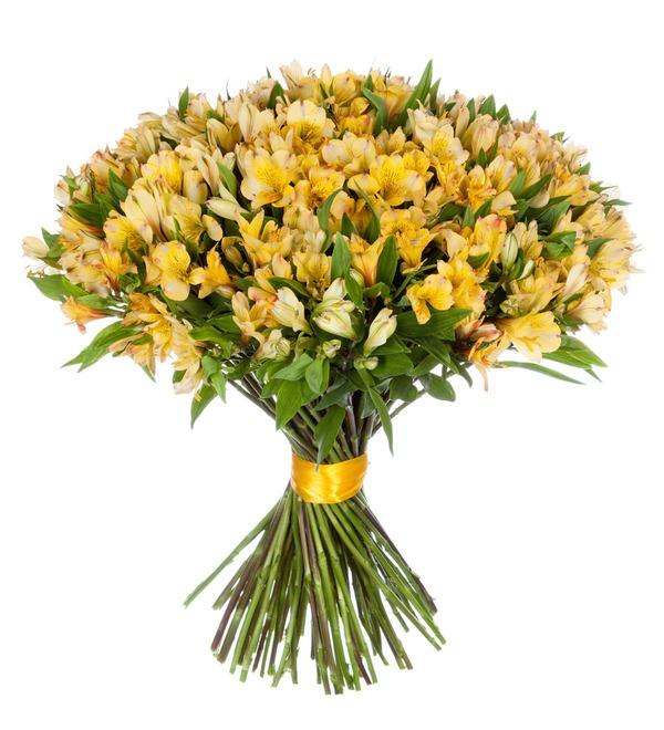 Bouquet Gold (25, 51 or 101 alstroemeria) – photo #2