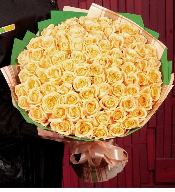 Bouquet-solo Cream roses (25.51.75 or 101) – photo #1