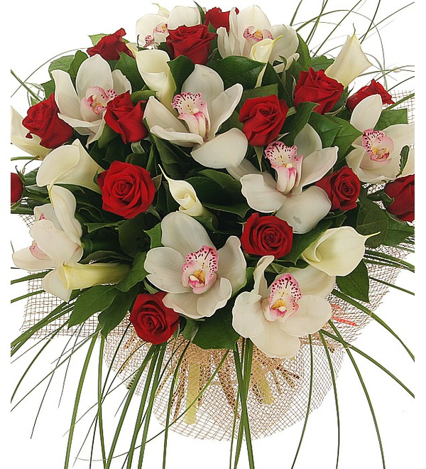 Букет Москва, розы, мечты... – фото № 1