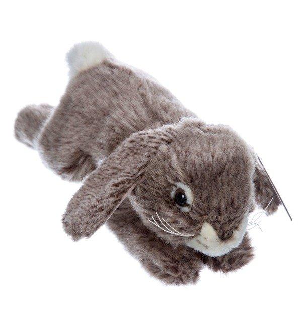 Мягкая игрушка Серый кролик (25 см) – фото № 5