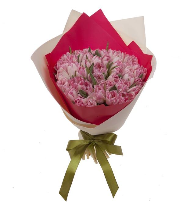 Букет-соло тюльпанов Foxtrot (15,25,35,51,75,101 или 151) – фото № 5