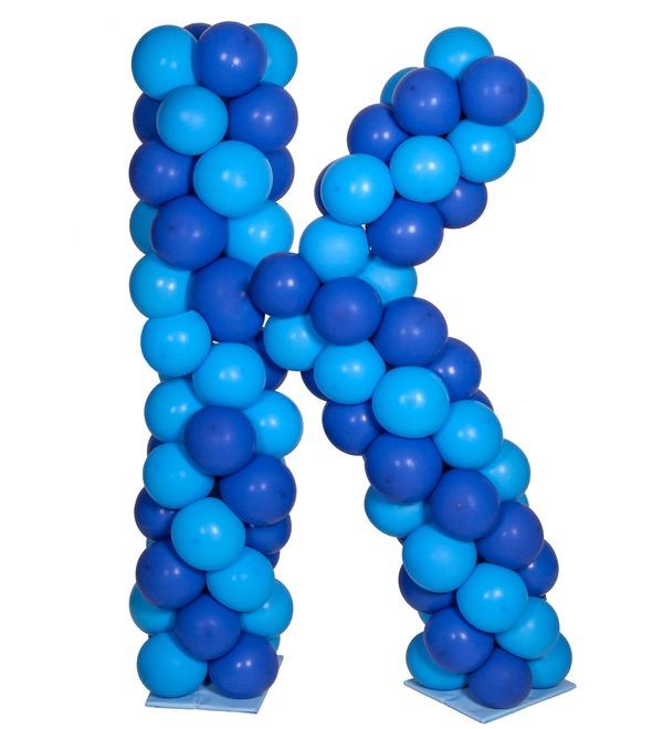 Буква из воздушных шаров – фото № 3
