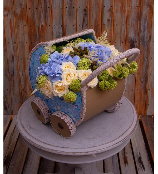 Цветочная коляска С Рождением Малыша! – фото № 1