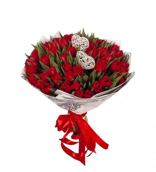 Букет-соло Тюльпаны Largo (25,51,75 или 101) – фото № 5