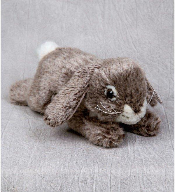 Мягкая игрушка Серый кролик (25 см) – фото № 1