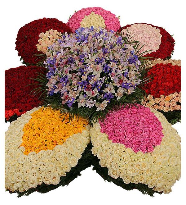 Композиция из роз и орхидей Цветок желаний – фото № 4