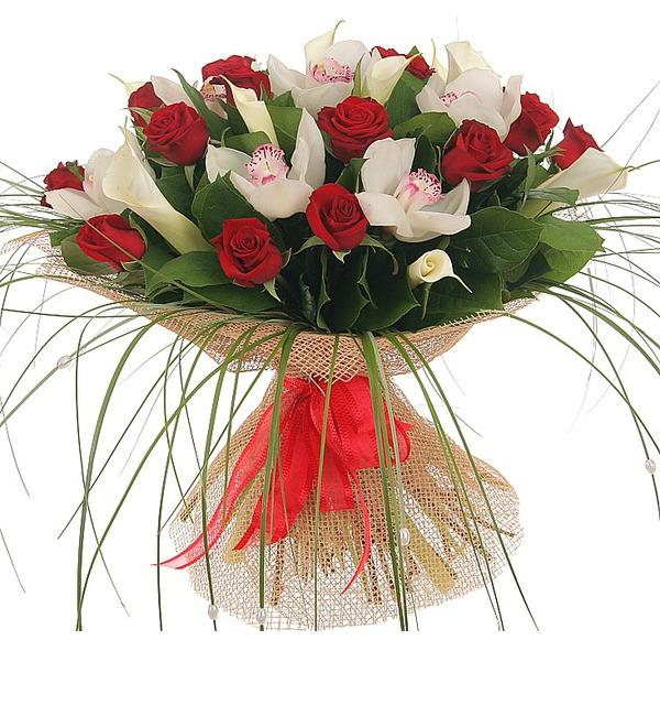Букет Москва, розы, мечты... – фото № 3