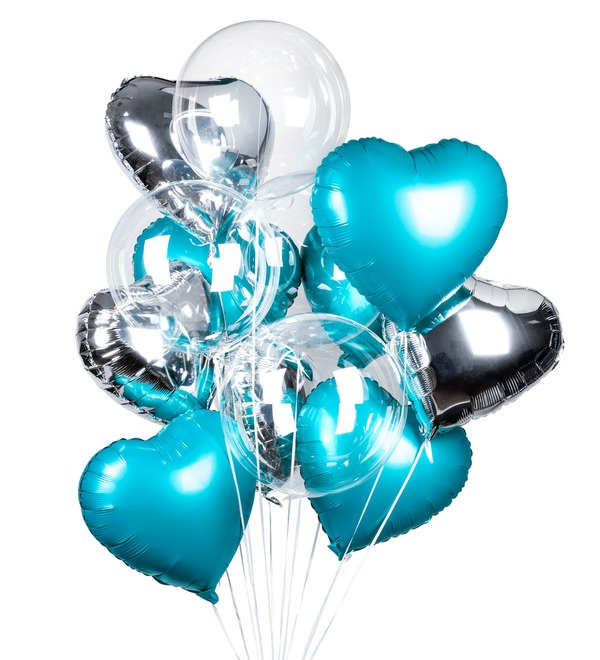 Букет шаров Романтика (14 или 29 шаров) – фото № 2