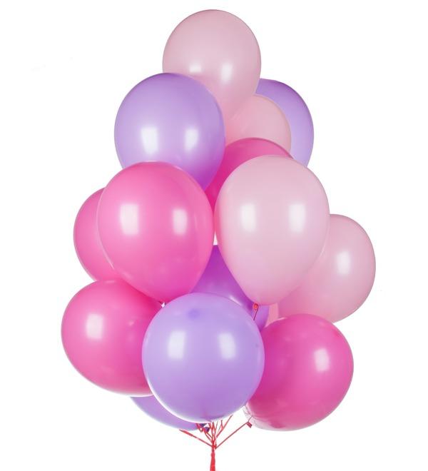 Букет шаров Ассорти для девочки (15 или 31 шар) – фото № 1