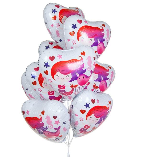 Букет шаров Люблю тебя! (9 или 18 шаров) – фото № 1