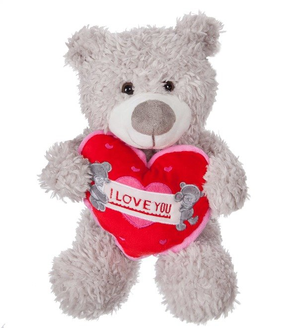 Soft toy Bear Jean (33 cm) – photo #1
