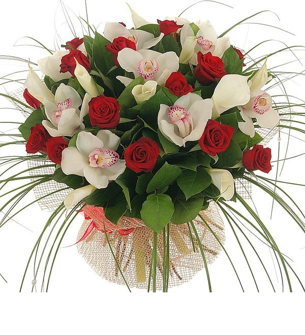Букет Москва, розы, мечты... – фото № 2